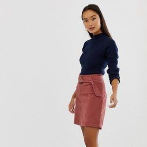 NWT ASOS New Look Buckle Cord Skirt